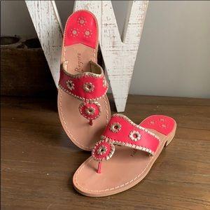 Jack Rogers Hampton Navajo Sandals Pink Gold 7.5